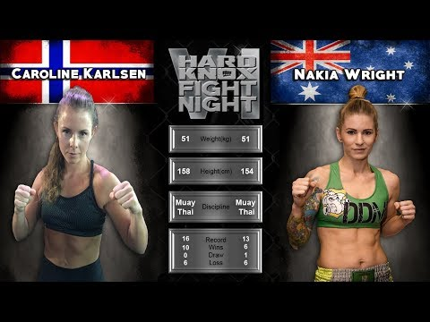 Hard Knox Fight Night VI Caroline Karlsen VS Nakia Wright thumbnail