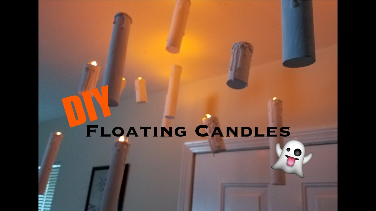 Diy Floating Candles Halloween Decorations