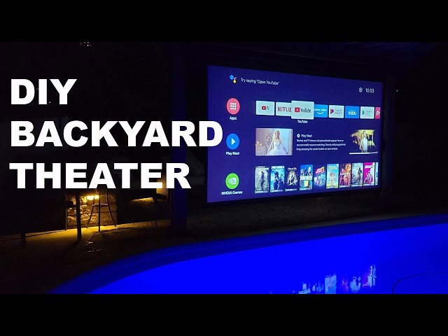 Turn Your Back Yard into an Outdoor Theater | Elite Screens Weatherproof Yard Master Electric Screen
