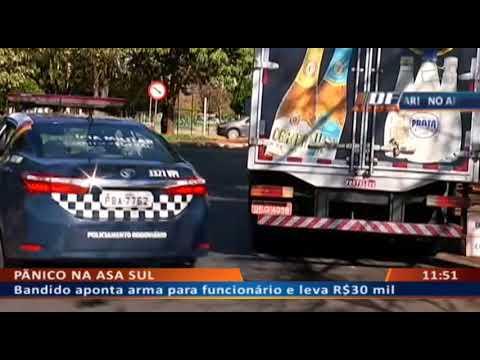 DF ALERTA - Bandido aponta arma para funcionário e leva R$30 mil