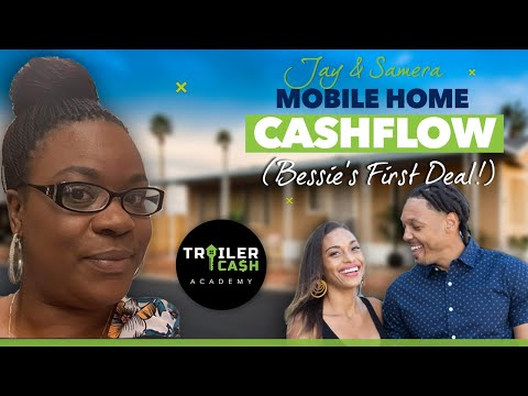 Mobile Home Cash Flow | Bessie's First Deal Earns $300/Mo For The Next 4 Years!