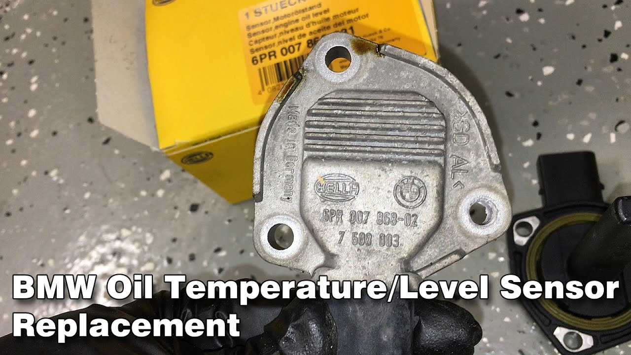 BMW E46 Oil Temperature/Level Sensor Replacement + Oil Change + Oil Service  Reset