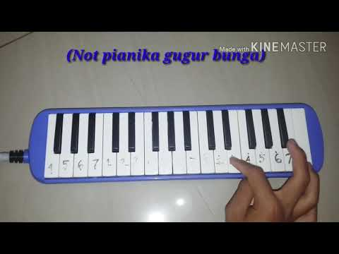 NOT pianika lagu (Gugur bunga)
