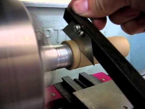 видео: cutting paper tubes (торцовка картонных трубок)