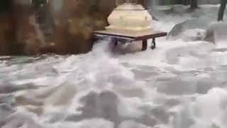 Thirumoorthy malai temple got surrounded with full of Flood