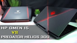 Acer Predator Helios 300 vs HP Omen 15 - In-depth Comparison / Review    GTX 1060 / i7-8750H / 144Hz