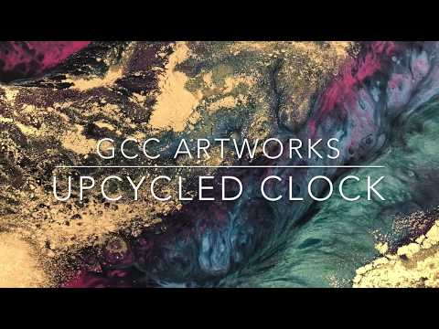 Upcycled Resin Clock - GCC ARTWORKS