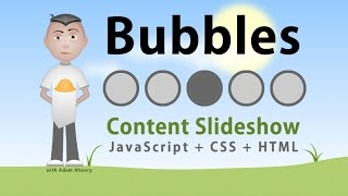 Bubbles Content Slideshow Application JavaScript CSS HTML
