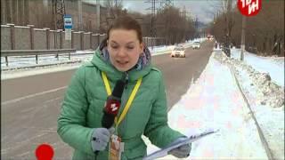 Эстафета олимпийского огня в Магнитогорске.