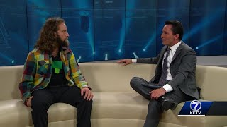 Josh Blue visits prior to Funny Bone performance