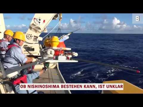 """""""Nishinoshima"""": Forscher betreten erstmals japanische Vulkaninsel"""