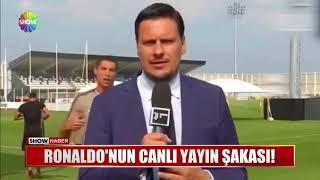 Cristiano Ronaldo'dan Haber Muhabirine Troll!!