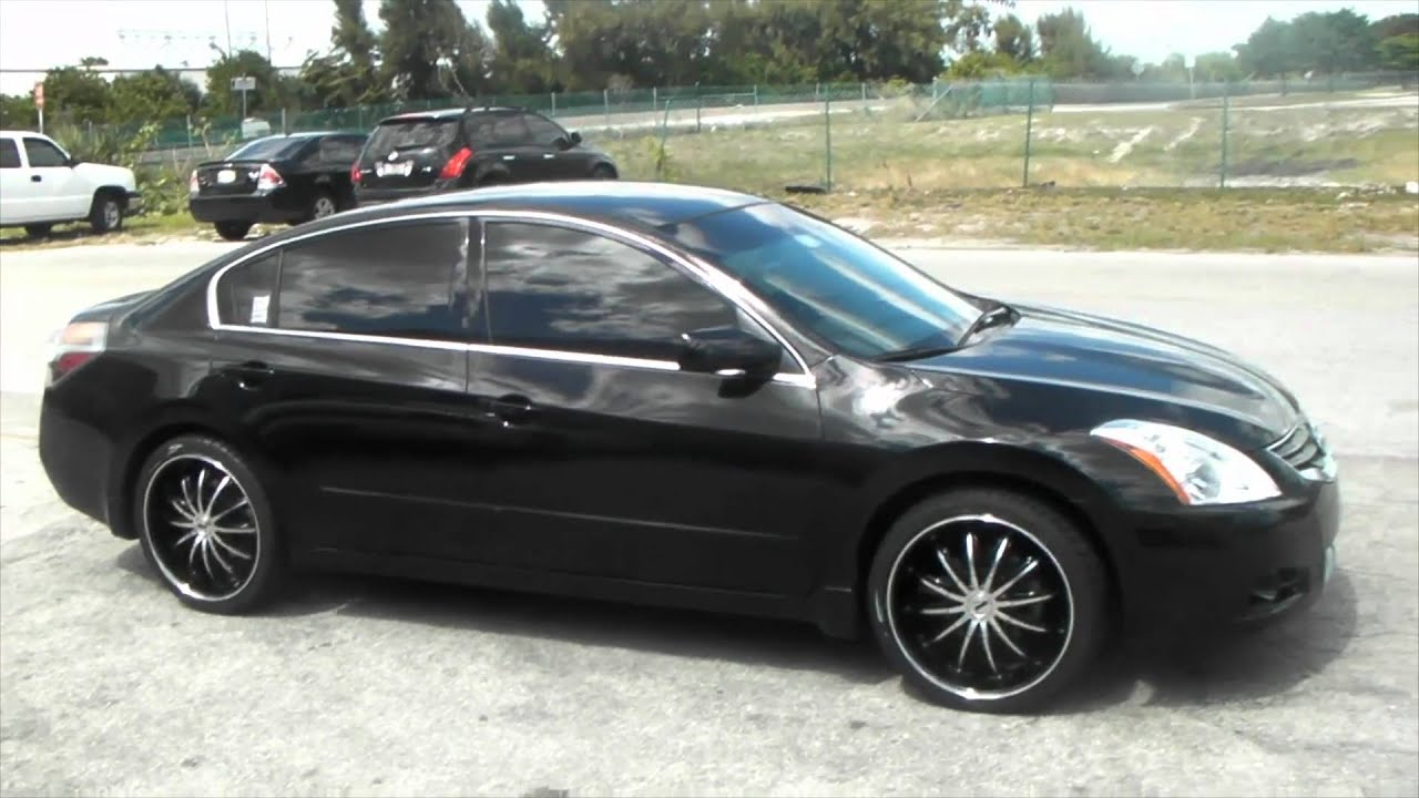 DUBSandTIRES.com 2010 Nissan Altima Review 20'' Black and Machined Velocity VW15 Asanti Forgiato - YouTube
