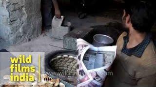 Buying Fresh Bread From Kashmiri Baker In Ladakh