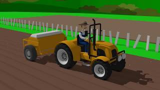 Agricultural and Construction Vehicles - Incorrect Cabins | Combine & Tractor & Excavator for Kid