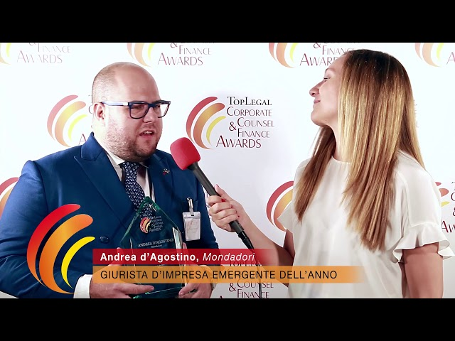 Andrea d'Agostino, Mondadori - TopLegal Corporate Counsel & Finance Awards 2019