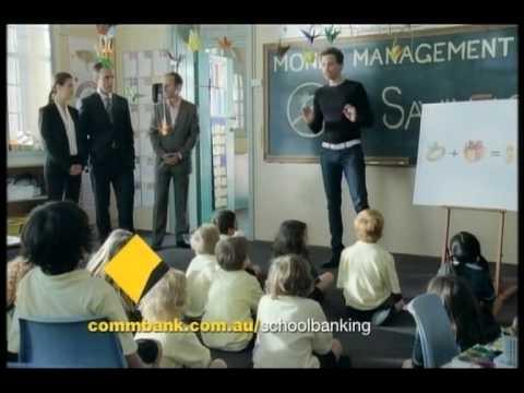 Commonwealth Bank ad, School Banking.
