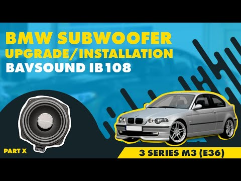 bavsound bmw subwoofer install bsw ib108 3 series m3. Black Bedroom Furniture Sets. Home Design Ideas