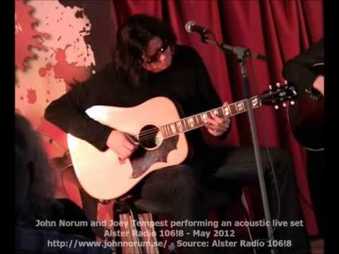 John Norum and Joey Tempest performing an acoustic live set - May 2012