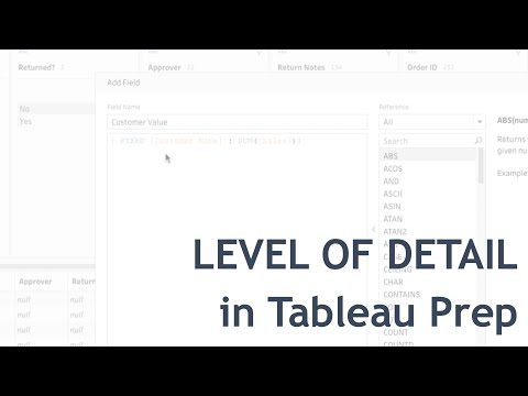 Level Up with LoD in Tableau Prep