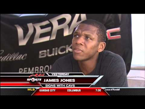 July 16, 2014- WSVN - Miami Heat Free Agent James Jones Has Signed w the Cavaliers Very Surprisingly