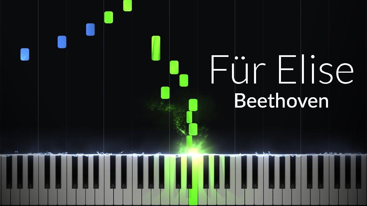 Fur Elise Ludwig Van Beethoven Piano Tutorial Synthesia