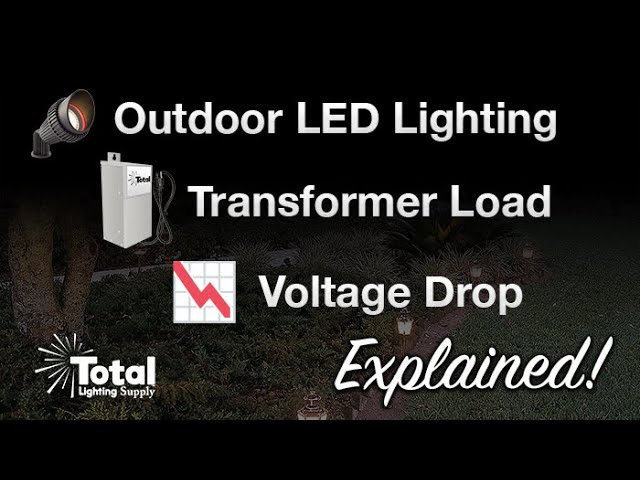 Outdoor Led Lighting Transformer Load Voltage Drop Explained By Total Led Malibu Lighting Youtube