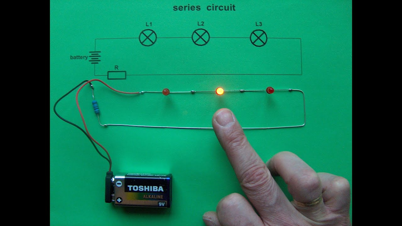 led wiring series button series circuit - 3 leds & 0 switches - new idea - youtube led wiring series