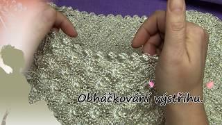 Obháčkování výstřihu šatů - Обвязка горловины платья.