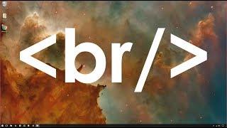 HTML الأساسية - خلق فواصل الأسطر في صفحة الويب الخاصة بك مع BR الوسم
