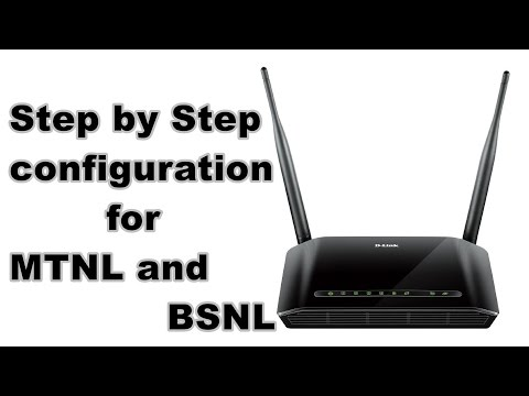 Configure D-Link Wifi ADSL Router for MTNL, Airtel & BSNL- Steps by Step