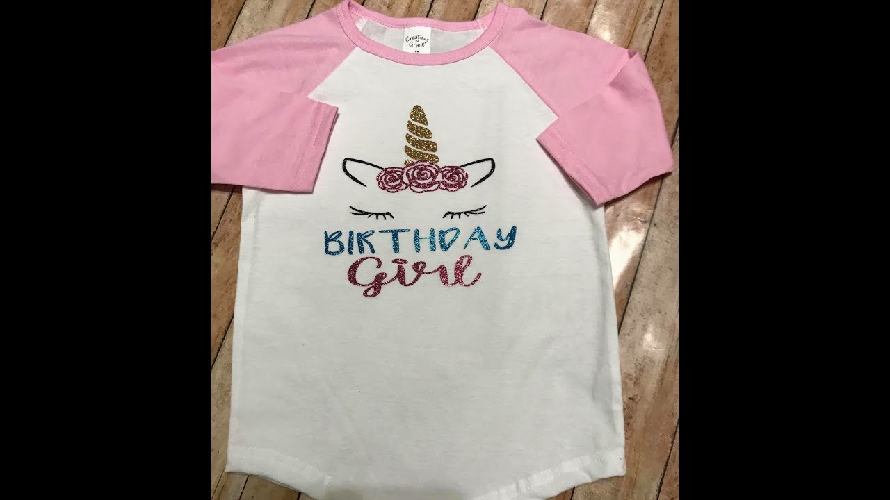Diy Unicorn Birthday Shirt Htv Cricut Air 2 Youtube
