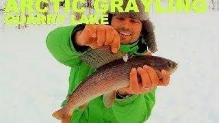 Great Action Arctic Grayling Ice Fishing Jaw Jacker