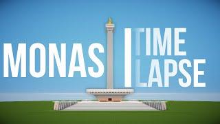 Monas | Time Lapse | Minecraft Indonesia