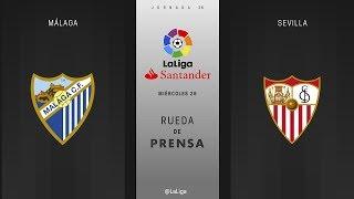 Rueda de prensa Málaga vs Sevilla