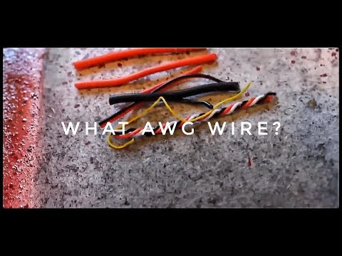 WHAT GAUGE (AWG) WIRE TO USE FOR A MULTIROTOR?