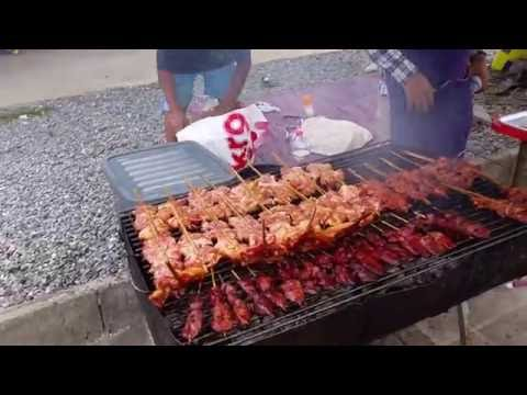 Thai Street BBQ Food on Koh Samui Thailand