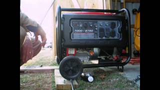 7000/8750 WATT PEDATOR GENERATOR OIL CHANGE