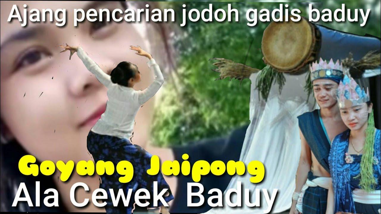 Joget Jaipong bareng gadis baduy diacara pesta kawinan baduy luar