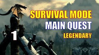 Skyrim Survival Mode Walkthrough, Main Quest Line Complete ...