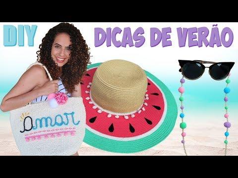 DIY ACESSÓRIOS DE VERÃO + DICA PRA CABELO CACHEADO |Paula Stephânia
