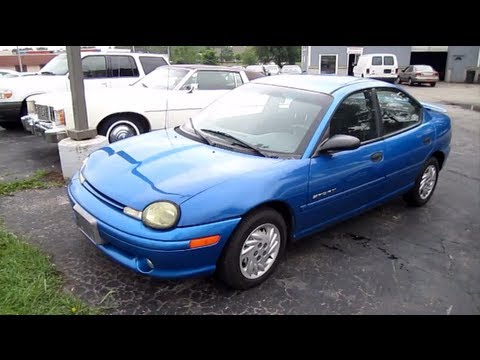 1999 Dodge Neon Sport 20l Start Up Walk Around And Review Youtube