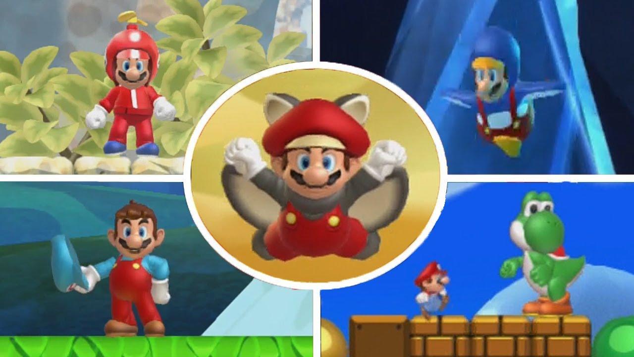 New Super Mario Bros U All Power Ups Youtube