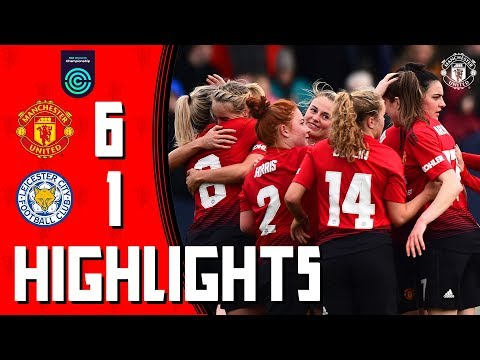 Manchester United Women Highlights | Manchester United 6-1 Leicester City | FA Women's Championship