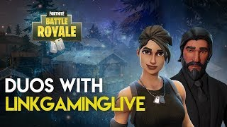 Fortnite: Battle Royale PS4 Gameplay | DUOS WITH LINKGAMINGLIVE