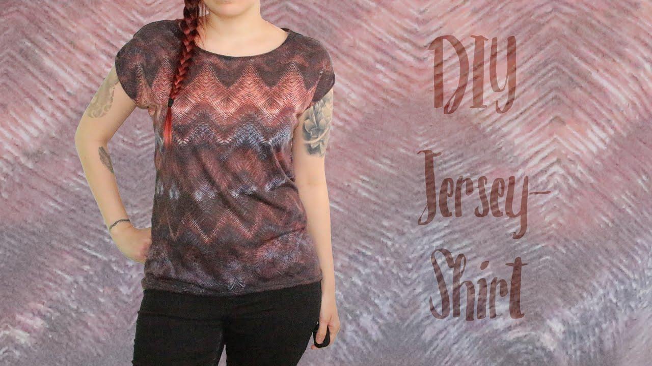 Luftiges T-Shirt aus Jersey nach Maß nähen - mit Spitzeneinsatz ...