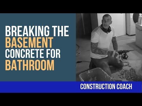 Breaking the Basement Concrete for Bathroom -DIY Plumbing