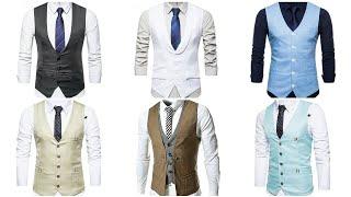 Top 40 Waistcoat For Men 2019-20 Vest v- Neck Slim Fit Jacket For Men Business Vest Jacket Men