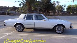 87 Chevrolet Caprice Classic Brougham LS Sedan 5.0L V8 Walkaround Review For Sale