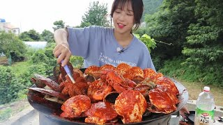 Spicy Braised Seafood Lobster Octopus Abalone Mukbang Korean Eating Show